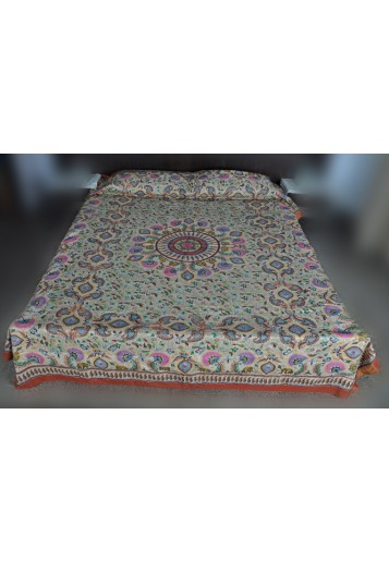 Bed Cover - Floral Jaba Jaal